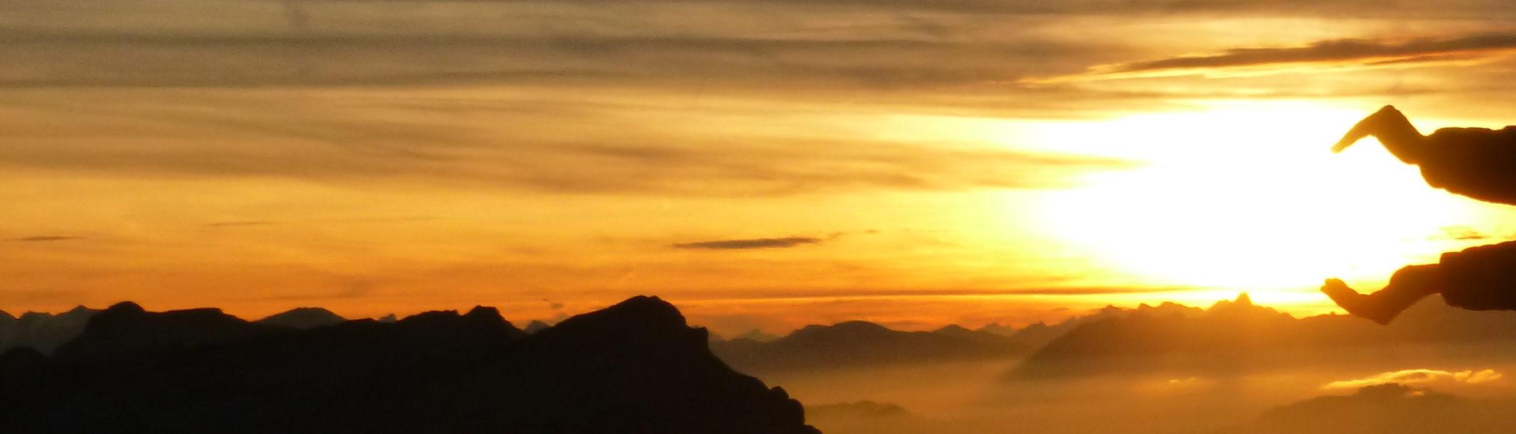 Sonnenuntergang Fürsteingipfel